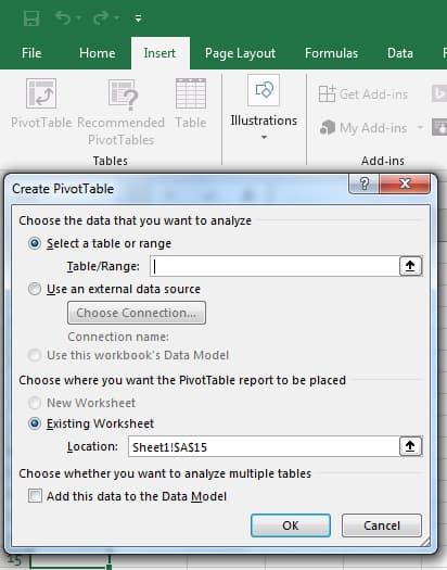 Create Pivot Excel VBA (Visual Basic for Applications)