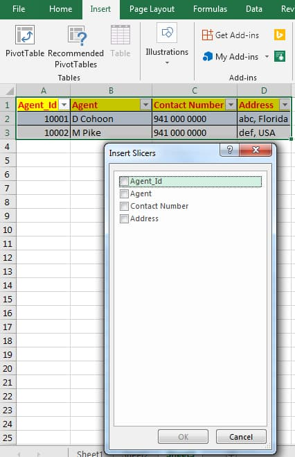 Slicers in Excel VBA (Visual Basic for Applications)