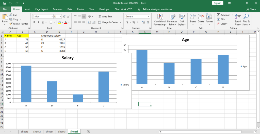 Get existing charts in Excel Addin C#