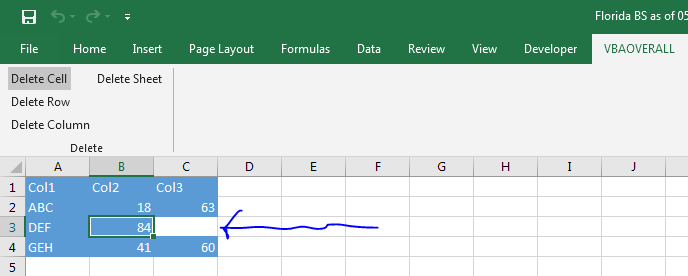 Delete or Remove Cells from Excel using C#