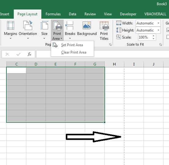 Print Area in Excel Addin