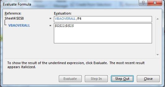 Detect errors in formula Excel