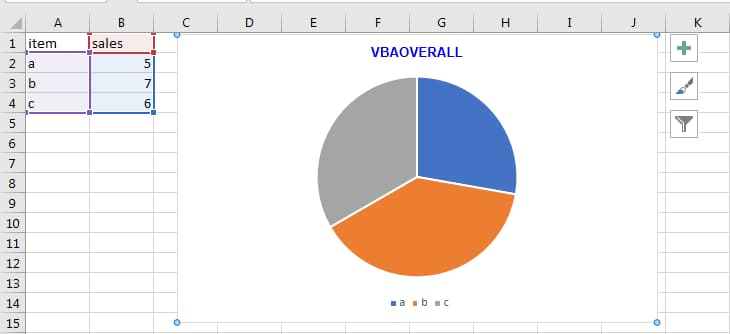 Chart Title in Excel Add-in code example