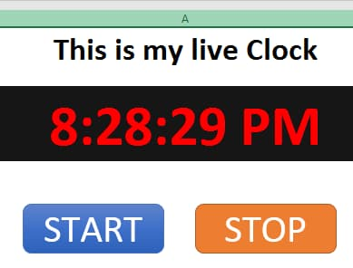 Create Live Clock in Excel (Visual Basic for Applications)
