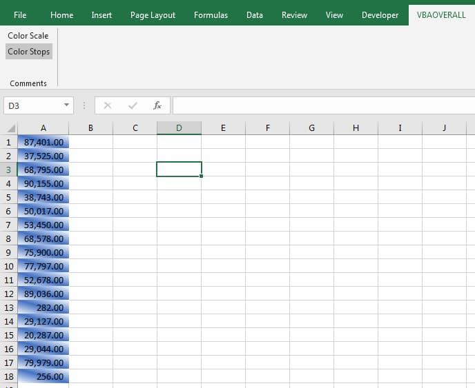 Color Stop Advanced Excel VBA, C#, VB.Net Code Example
